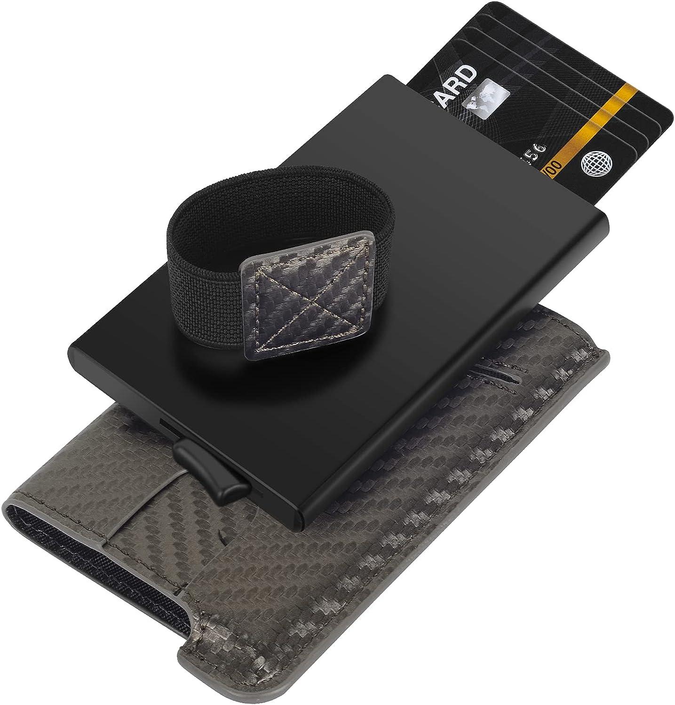 Smart Wallets For Men,Carbon Fiber Wallet,Rfid Wallet Credit Card Holder Minimalist Wallet For Men Pop Up Gifts For Men