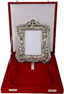 MSA JEWELS Aluminum Oxidized Rose Picture Frame (8.5 x 2.5 x 5.5 cm, Silver)