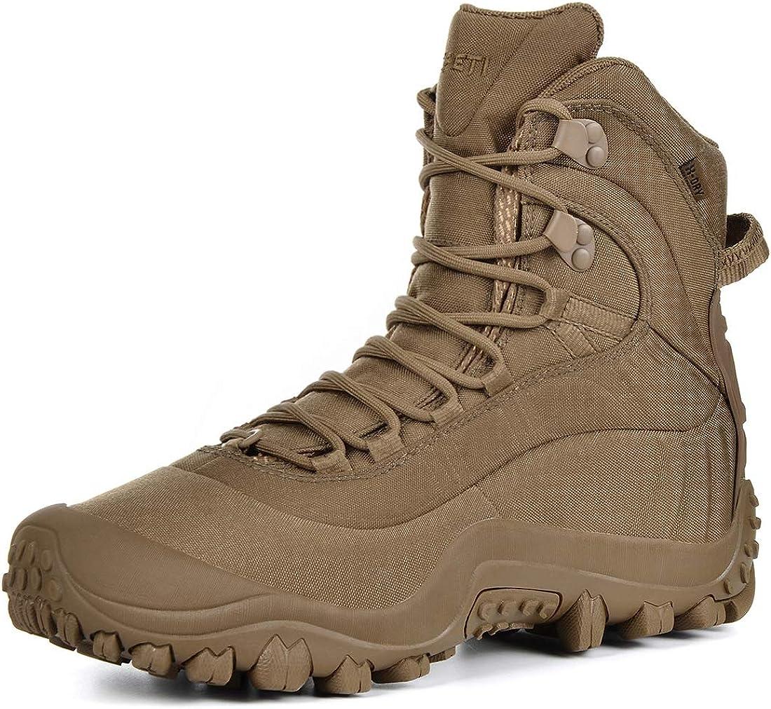 """SKENARY Men's Max 89% OFF Max 62% OFF Tactical Boots 8"""" Mid Waterproof Mili Combat"""