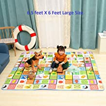 Ozoy Baby Mats Waterproof Play Mat for Kids Extra Large Size Crawl Thick Double Sided Non-Slip Reversible Portable Mat Use for Outdoor/Picnic/Beach/Travel 6.5 x 6 Feet (200 x 180 cm) (Multi)