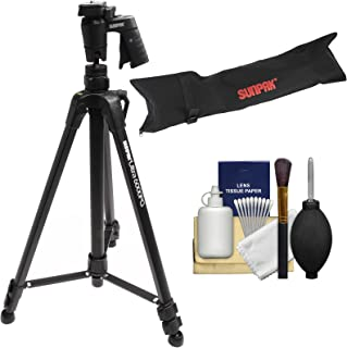 Sunpak 61-inch Ultra 6000PG PlatinumPlus Aluminum Tripod with Pistol Grip Ball Head with Case + Cleaning Kit
