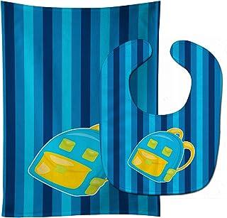 Caroline's Treasures Back to School Backpack No. 2 Baby Bib & Burp Cloth, Multicolor, Large