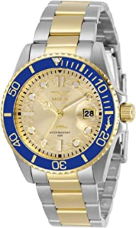 Invicta Women's Pro Diver Quartz Watch with Stainless Steel Strap, Two Tone, 20 (Model: 30482)