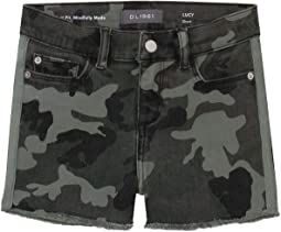 Lucy Shorts in Sage Camo (Big Kids)