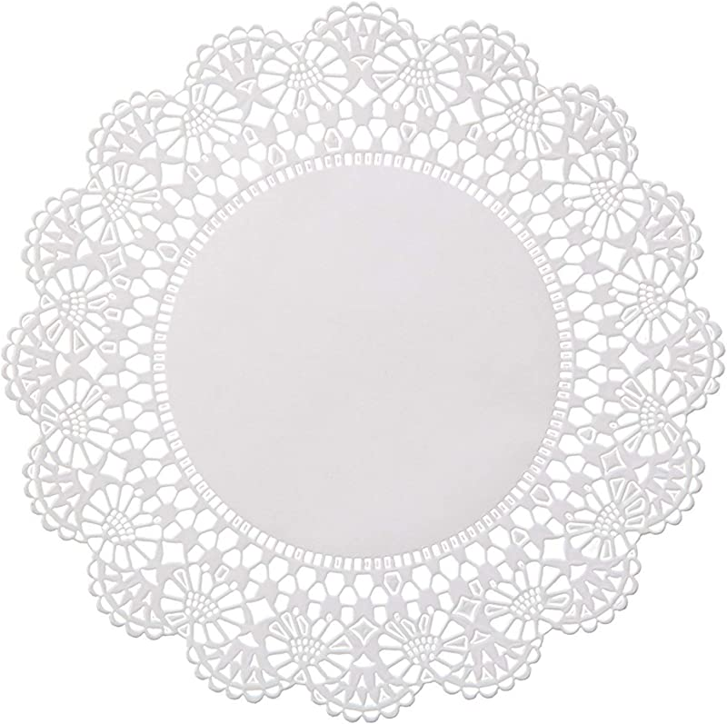 Round 5 Inch Paper Lace Table Doilies White Disposable Placemats Great For Serving Small Treats Or Rolling Around Silverware Pack Of 100