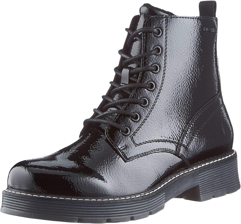 Tom Tailor Women's 9093501 Mid Calf Boot, Black, 8 US