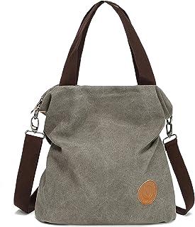 Myhozee Borsa Donna Tracolla,Borse Mano Donna Borse a Spalla in Tela Borsetta Vintage Shopper Messenger Bag Multifunzione ...
