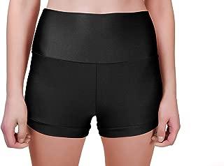 Mvefward Womens High Waisted Yoga Shorts Lycra Workout Running Shorts Tummy Control