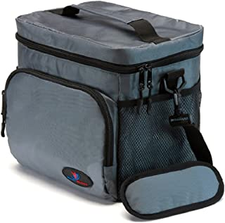 Insulated Lunch Bag for Men | Lunch Bags for Men | Lunchbox Adult | Cooler Bags Insulated | Adult Lunch Box by Ramaka Solutions | Non-Toxic Stain Resistant Nylon | 9.5 x 7.9 x 9.3 Inches Grey