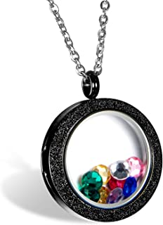 black floating locket