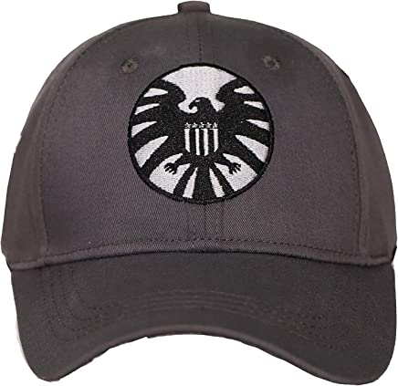 067776fabfcd0 Captain Marvel Shield Hat Carol Danvers Cap Cotton Grey