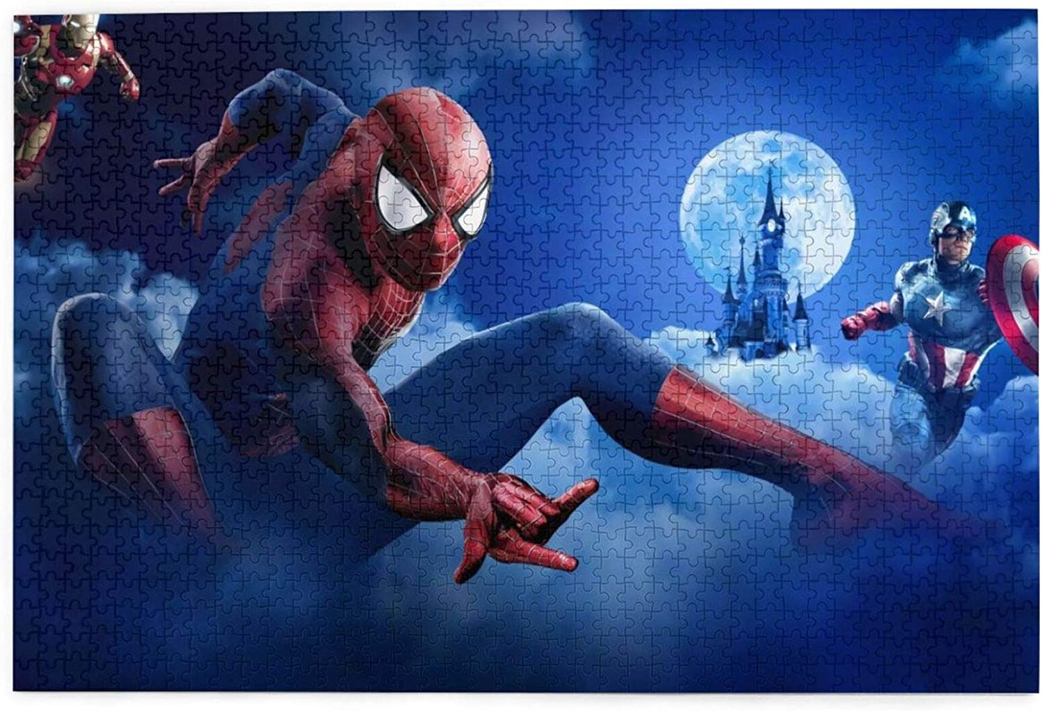 Fly-Le 1,000//500//300 Pieces of Amazing Spiderman Pieces are Waiting for You to Piece Together to Stimulate Your Imagination