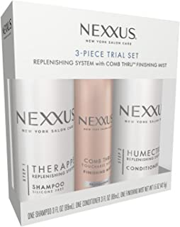 Nexxus 3 Piece Trial Set: One (1) Therappe Shampoo, One (1) Humectress Conditioner, & One (1) Comb Thru Finishing Mist