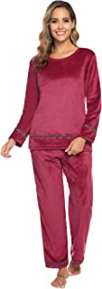 Womens Velour Tracksuit 2 Pieces Outfits Long Sleeve Sport Suits Pullover Sweatsuit Set