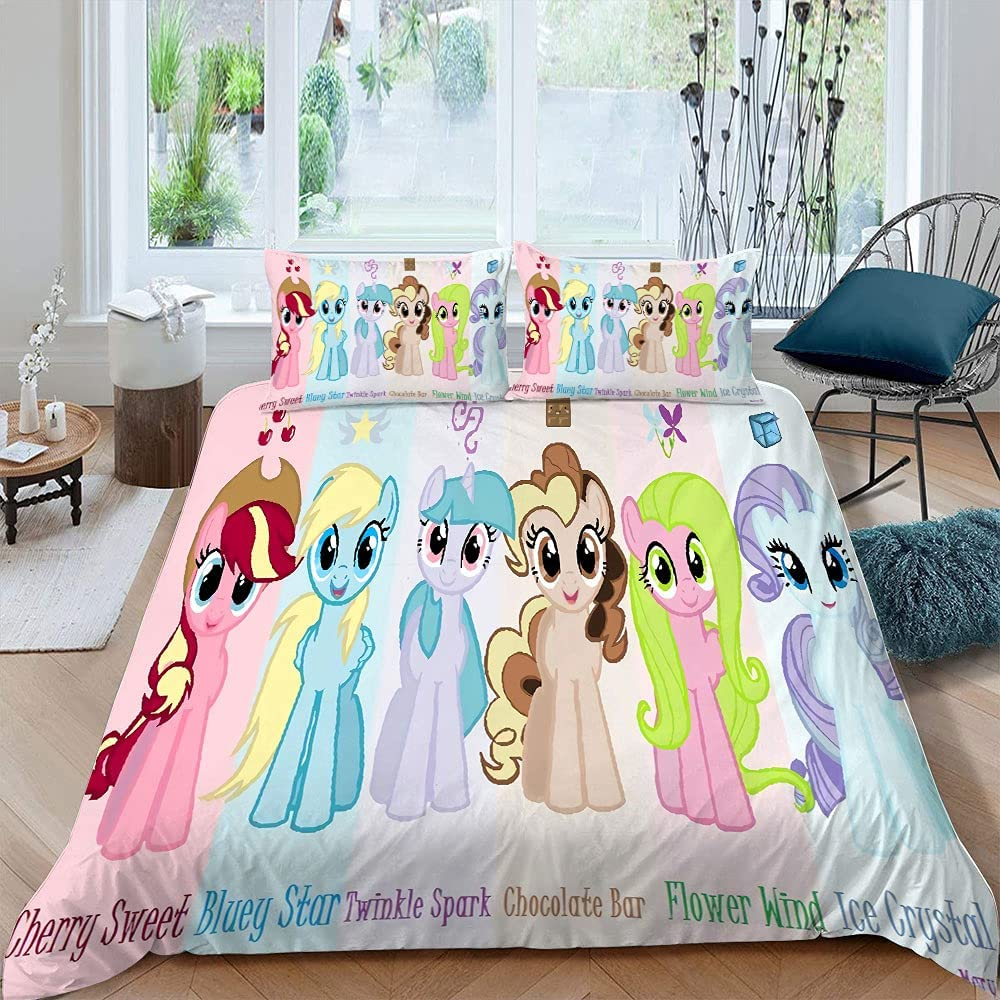 Asoohoe Family Duvet Cover My Little Limited time cheap sale Cartoon Horse Comic Poster Japan's largest assortment