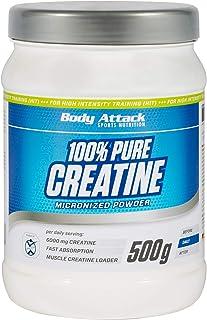 Body Attack 100% Pure Creatine – 500g Pulver, hochwertiges mikrofeines Kreatin..
