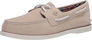 Sperry Men's A/O 2-Eye Plushwave Boat Shoe, Bone, 7.5 Medium