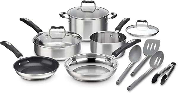 Cuisinart P87 12 Stainless Cookware 12 Piece Set With Specialty Tools Silver