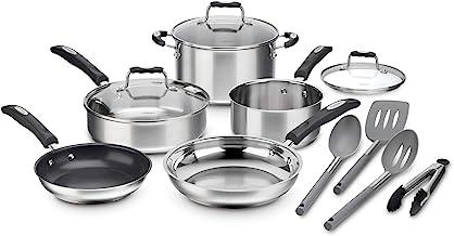 مجموعة أواني الطبخ متعددة الطبقات ستانلس ستيل 12 قطعة من كويزين آرت P87-12