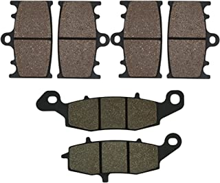 Cyleto Front and Rear Brake Pads for Kawasaki VN2000 Vulcan 2000 Classic 2006 2007 2008 2009 VN 2000 Vulcan Classic LT 2006-2010