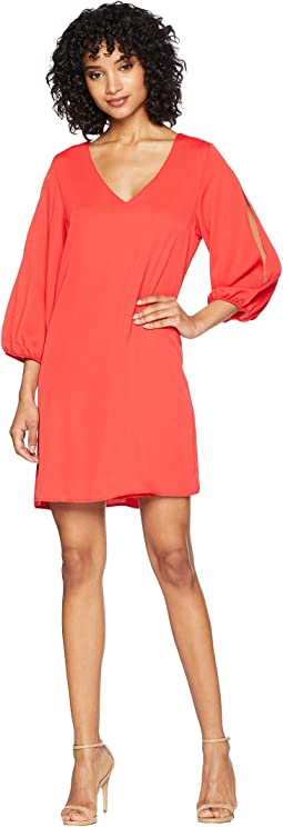 Kimora Shift Dress with Sleeve Cut Out