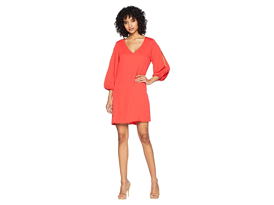American Rose Kimora Shift Dress with Sleeve Cut Out (Red) Women