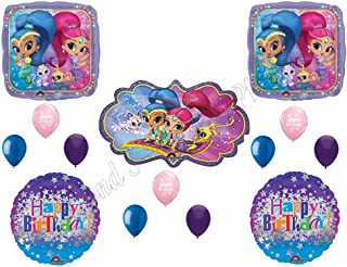 SHIMMER AND SHINE HAPPY Birthday Party Balloons Decoration Supplies Genie Nick