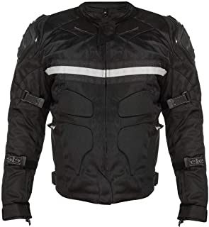Xelement CF751 `Roll Out` Men`s Black Tri-Tex Motorcycle Jacket with Level-3 Armor - X-Large