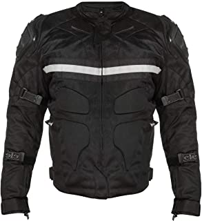 Xelement CF751 'Roll Out' Men's Black Tri-Tex Motorcycle Jacket with Level-3 Armor - Medium