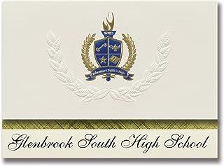 Signature Announcements Glenbrook South High School (Glenview, IL) Graduation Announcements, Presidential style, Elite pac...