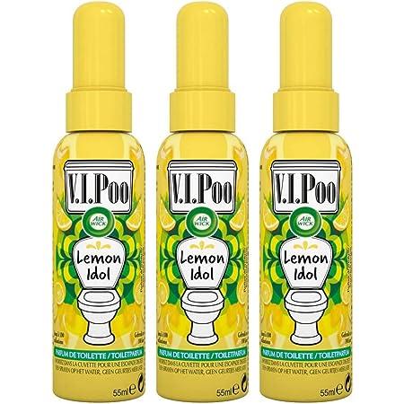Air Wick Desodorisant WC Spray V.I.Poo Anti Odeur Parfum Lemon Idol 55 ML, Lot de 3