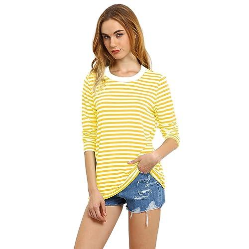 91ff8a3b Yellow Striped Shirt: Amazon.com