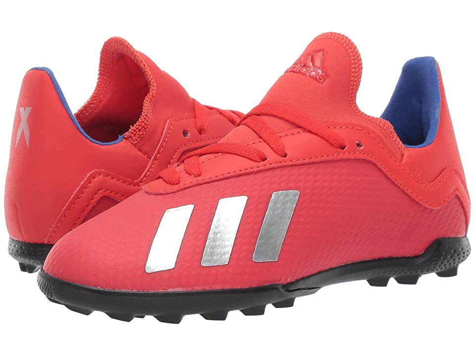adidas Kids X 18.3 TF Soccer (Little Kid/Big Kid) (Active Red/Silver/Blue) Kids Shoes