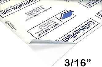 Source One Premium 3/16 Clear Acrylic PlexiGlass Sheet 12 x 12 Inches (S1-12x12-.187)