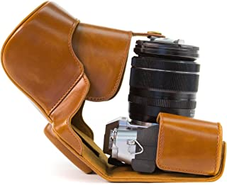 MegaGear Bolsa de Funda Protectora para Fujifilm X-T1 con 18-55mm marrón Claro
