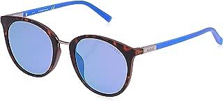Guess Women's GU3022 GU3022 52X Round Sunglasses, Black, 52 mm