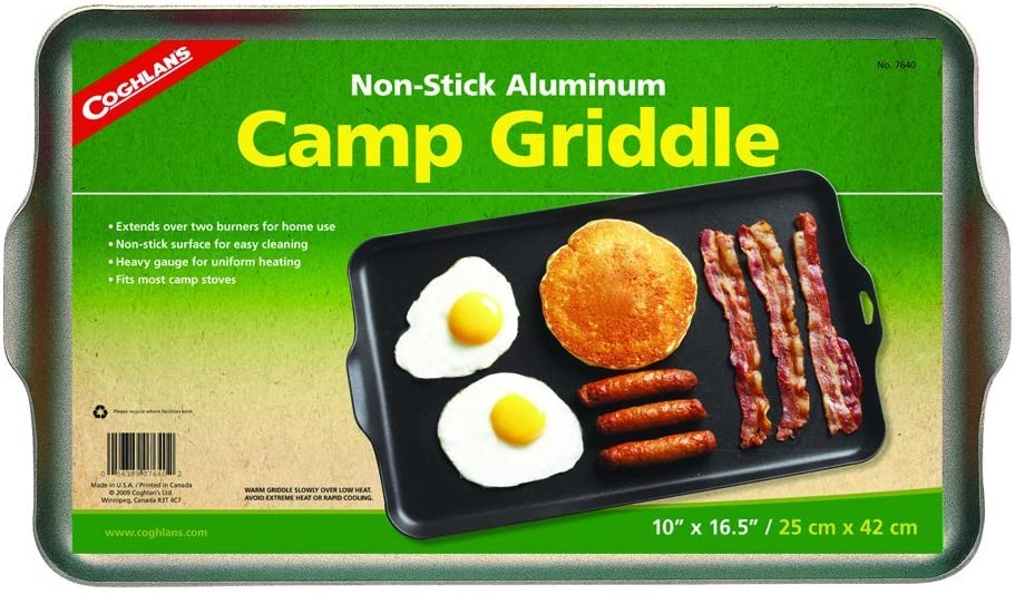 Two Burner Non-Stick Camp Griddle 爆買い新作 x 10-Inches Black 16.5 定価の67%OFF