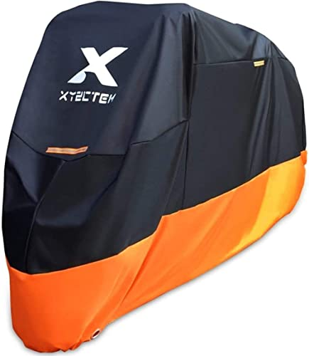 XYZCTEM Motorcycle Cover – All Season Waterproof Outdoor Protection – Precision Fit up to 108 Inch Tour Bikes, Choppe...