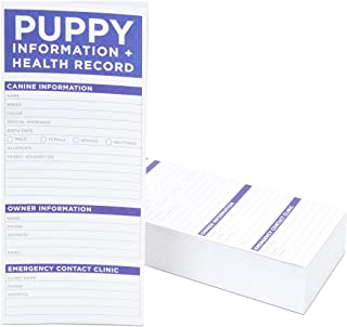 Okuna Outpost Puppy Vaccine Cards, Dog Health Records (8.5 x 11 in, 60 Pack)
