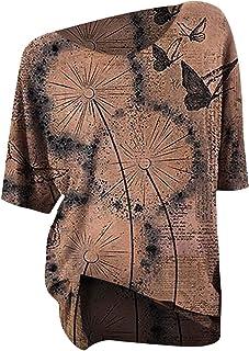 Xmiral Blouse Tops Vrouwen Korte Mouw Boothals Losse T-Shirt Print Etnische Stijl Casual Basic Shirt