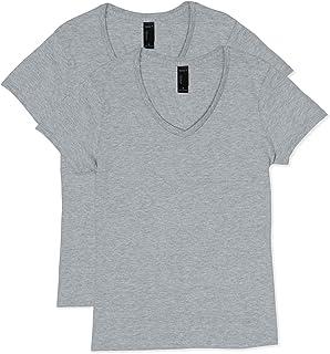 Hanes womens Short Sleeve V-neck T-shirt