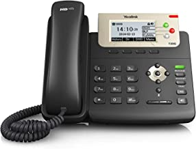 Yealink [8-Pack] T23G IP Phone, 3 Lines. 2.8-Inch Graphical LCD. Dual-Port 10/100 Ethernet, 802.3af PoE, Power Adapter Not Included (SIP-T23G-8)