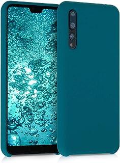 kwmobile Funda Compatible con Huawei P20 Pro - Carcasa de TPU para móvil - Cover Trasero en petróleo Mate