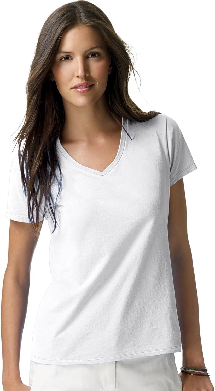Hanes Women's Perfect-T Short Sleeve V-neck T-shirt
