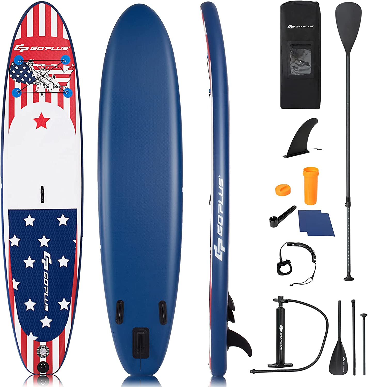 Goplus Inflatable Cheap bargain Stand up Paddle Board Brand new Process Latest Inkjet An