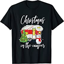 Christmas In The Camper Family Funny Cute Holiday Camping T-Shirt
