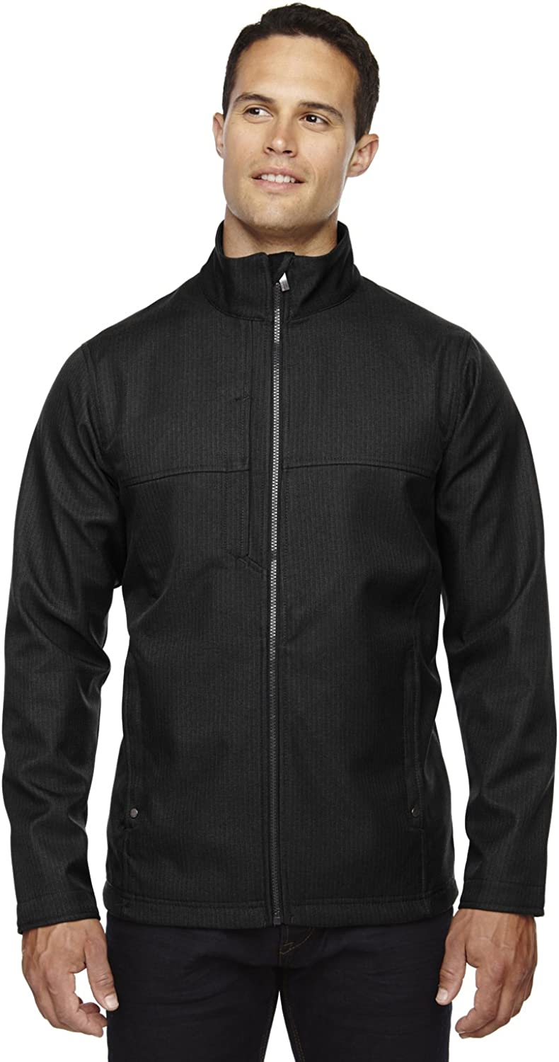 North End Men's City Textured Shell Soft Ranking TOP3 trend rank Jacket 3-Layer Fleece