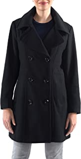 Norah Womens Wool Blend Double Breasted Peacoat