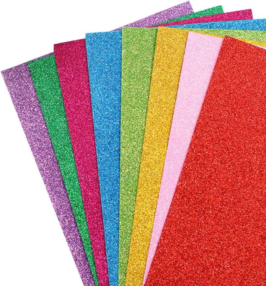HEALLILY 10PCS Glitter Foam Max 88% OFF Sheet Cheap mail order shopping Sparkl Paper Cardstock