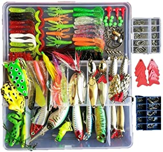 Topconcpt 275pcs Freshwater Fishing Lures Kit Fishing...